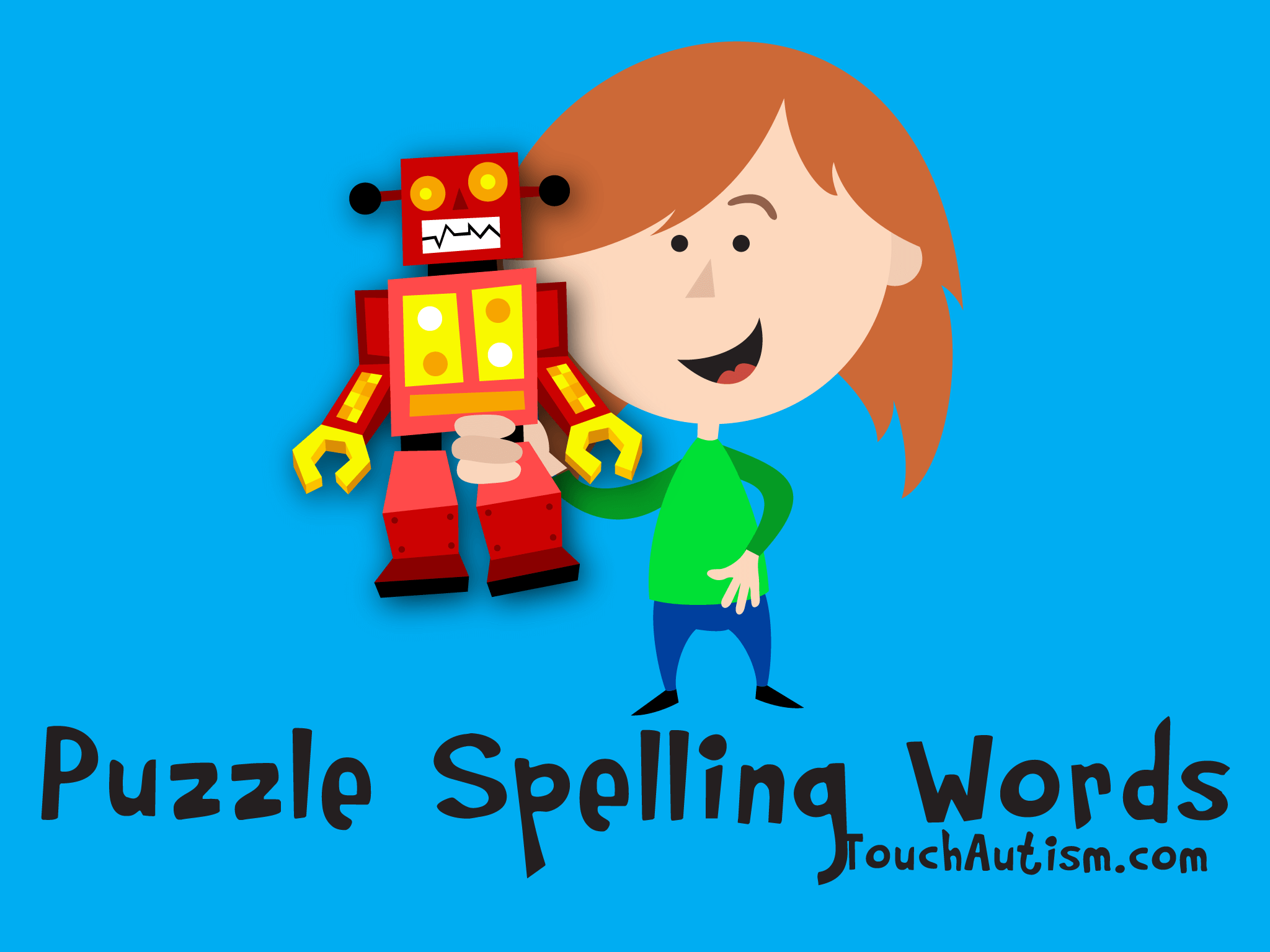 Toddler Puzzle Spelling Words - Autism Related Apps