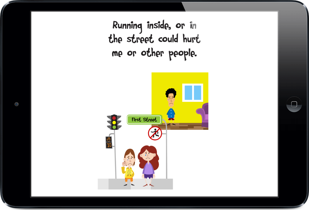 image relating to Free Printable Social Story Template named Application With a Social Tale Around Not Managing Absent In opposition to