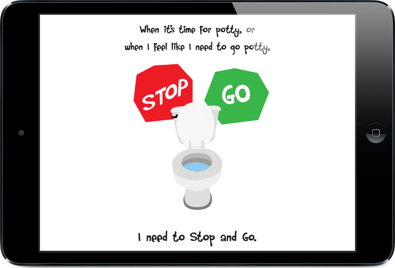 Potty Training Social Story on Daily Visual Schedule